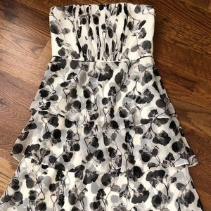 White House Black Market floral silk dress